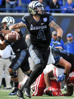 Quarterback Riley Ferguson and the Memphis Tigers will face Western Kentucky in the Boca Raton Bowl on Dec. 20.