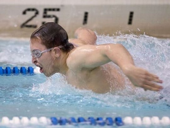 South Lyon's Riley Vaughn took a fifth in the 100 butterfly.