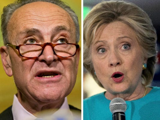 Chuck Schumer, Hillary Clinton