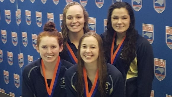 Roberson's girls 400-yard freestyle relay team consisted