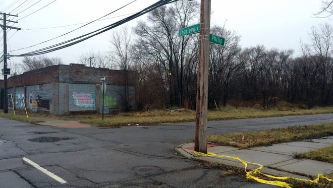 The attack occurred near the intersection of Charlevoix and Philip on Detroit's east side. It's a desolate area with few houses.
