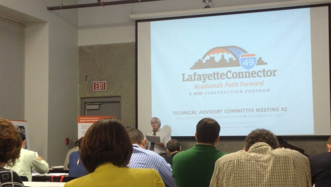 The Lafayette I-49 Connector technical advisory committee met today.