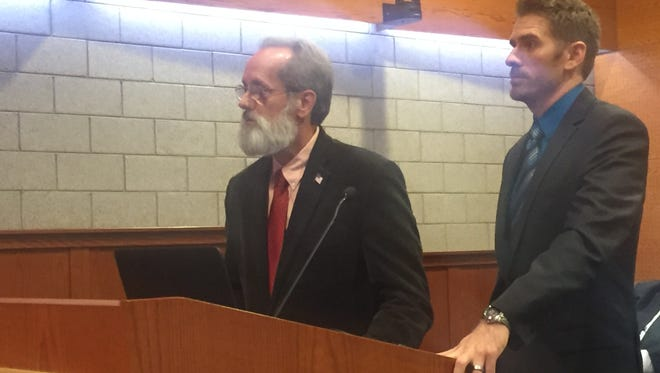 Water Resources Commissioner Jim Nash (left) and Middlebelt Tunnel project manager Joel Brown will lead a town hall-style meeting on the project Monday from 6-8 at Farmington Hills City Hall.