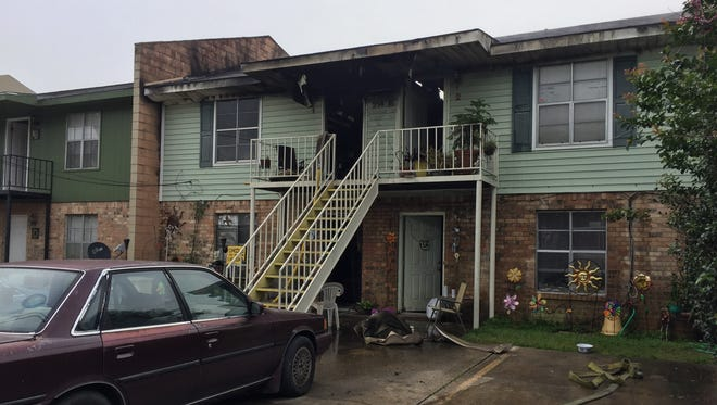 The aftermath of an apartment fire at 214-A Rials Drive.
