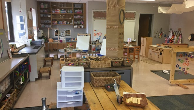 Erin Duros' kindergarten classroom in Fall Creek Elementary in Fishers.