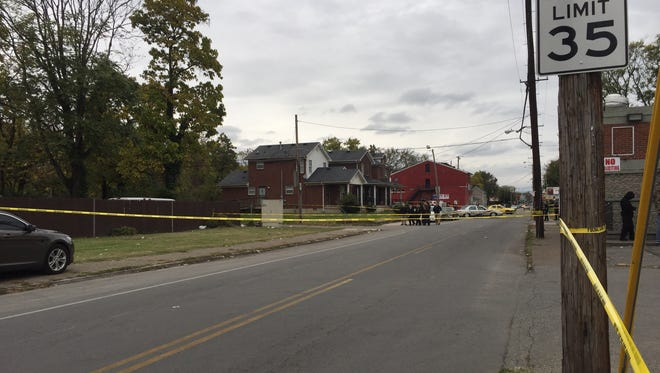 Louisville Metro police investigate a homicide Oct. 30 in the Russell neighborhood at 26th and Eddy streets.