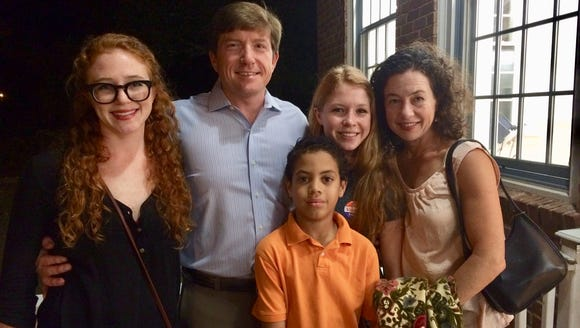 State Rep. David Baria, D-Bay St. Louis, poses with his family after announcing he will run for the U.S. Senate seat held by Republican Roger Wicker.