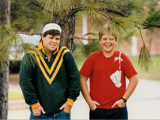 Bart Millard, right, in sixth grade, with his older brother, Stephen, then a high school junior. This picture was taken right around the time their father stopped beating Bart.