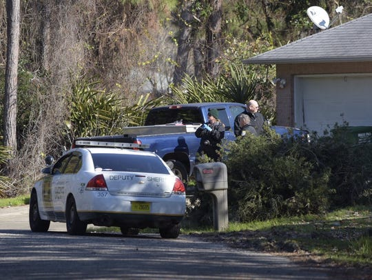 The Santa Rosa County Sheriff's Office responds on