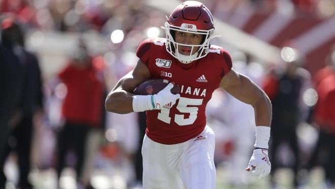 Indiana receiver Nick Westbrook's draft stock is unclear. Westbrook didn't receive an invitation to the NFL combine or have the opportunity to showcase his skills to scouts at a pro day, which were cancelled by the coronavirus pandemic.