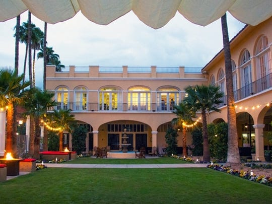 The courtyard at the San Marcos Hotel on Dec. 20, 2013.