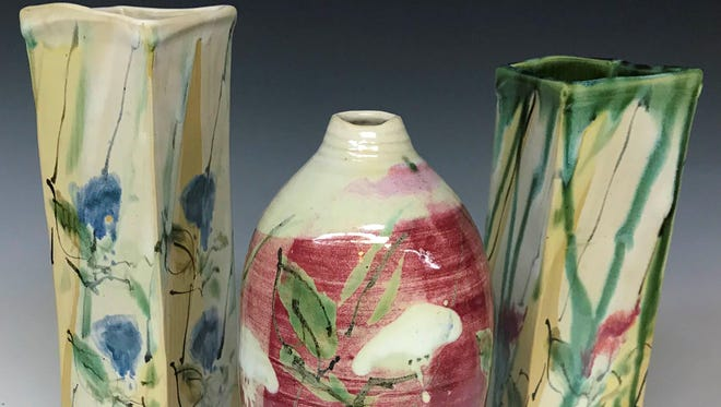 Pottery by Rich Agness, part of the annual pottery show Nov. 4 at Plum Bottom Pottery & Gallery.