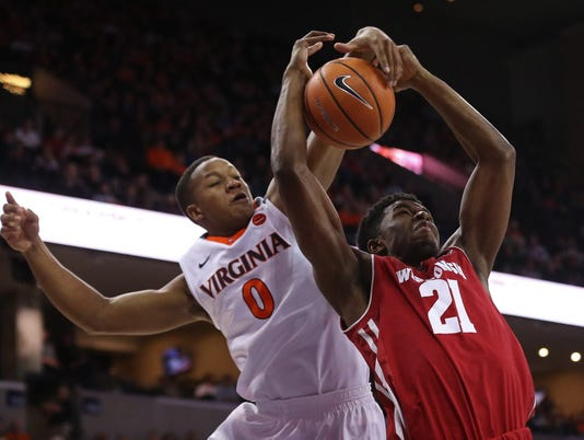 NCAA Basketball: Wisconsin at Virginia