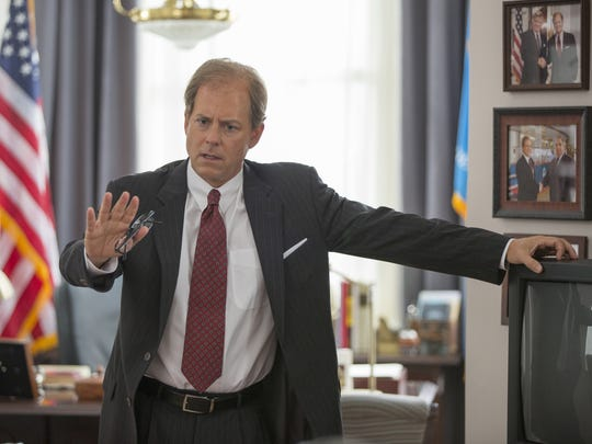 "Greg Kinnear stars as Joe Biden in the new HBO film ""Confirmation."" The television movie about the Clarence Thomas Supreme Court nomination hearings debuts April 16."