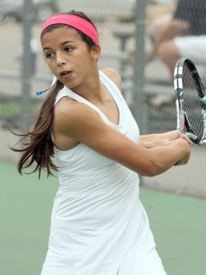 Newman Catholic's Laura Larrain is seeded third in Division 2 singles play for the WIAA state individual girls tennis tournament which starts Thursday.