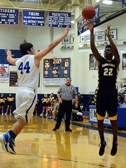 Hendersonville High senior Bryan Scott releases a 3-pointer
