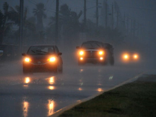 Cars make their way north on Atlantic Avenue in Cocoa