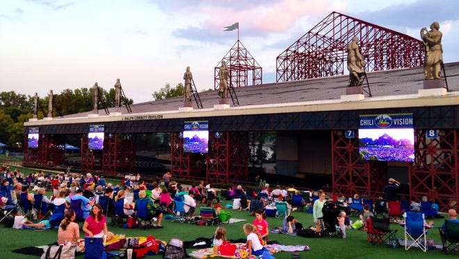 Last year, 800 people were at Riverbend Music Center for a live simulcast of Lumenocity. This year, there will not be a simulcast.