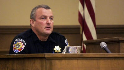 John Heath testifies in August 2013 in unsuccessful lawsuit against Rutherford County Sheriff's Office pertaining to ownership of a wrestling club building on the Blackman Middle School campus, where he at the time was serving as the school resource officer and wrestling coach.