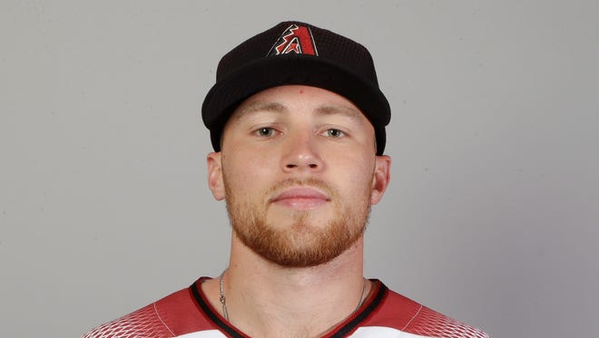 This is a 2018 photo of second baseman Brandon Drury of the Arizona Diamondbacks baseball team. This image reflects the spring training active roster as of Feb. 20, 2018 when this image was taken in Scottsdale, Ariz.