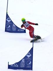 Shasta High's Dylan Wakeland won the boys snowboard dual slalom race Monday at Mt. Shasta Ski Park.
