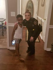 Officer Lauren Develle and TyLon Pittman, who called