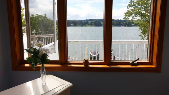 View of Silver Lake from a cottage in Perry.