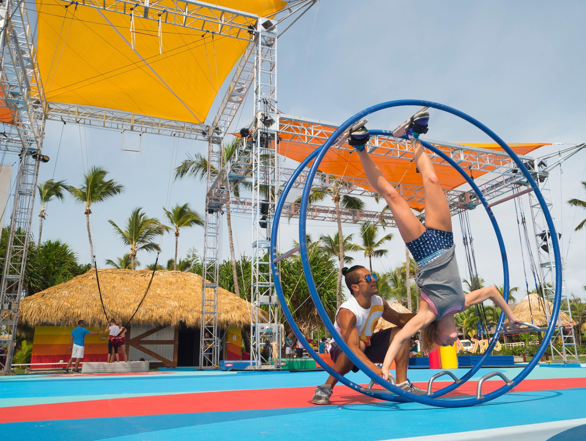 Learn circus tricks from the pros at Club Med Punta