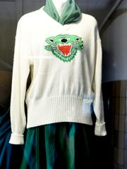 An old cheer outfit is on display at Bossier High School.