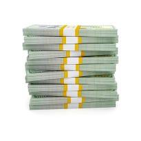 Stack of new US dollars 2013 edition bills