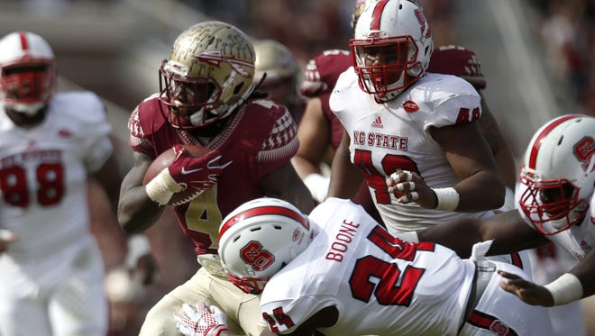 Dalvin Cook rushed for 138 yards and two touchdowns against NC State last season in 34-17 FSU win.