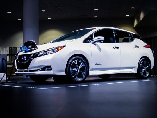 Electric cars, like the Nissan LEAF (2019 model shown),