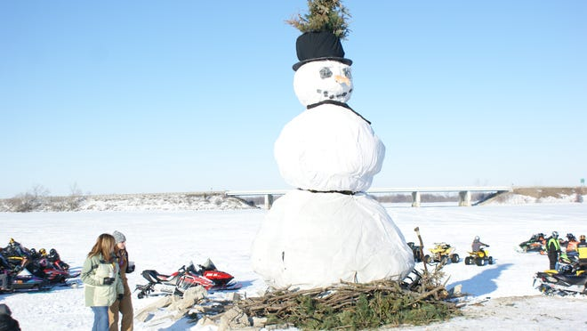 Norman, the snowman made of cotton and wood, was enjoying his last few hours before being burned to the ground.