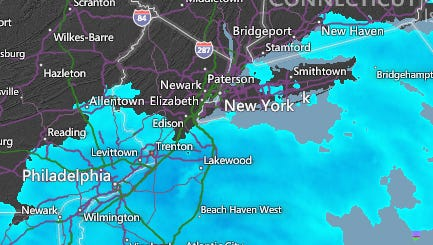 Snow is moving into the area for this afternoon
