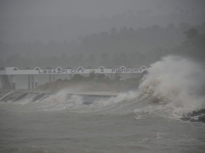 <p>Here's a look at the biggest typhoons in world history, as measured by wind speed. Super Typhoon Haiyan, with 195 mph winds, made landfall in the Philippines at peak strength.</p>