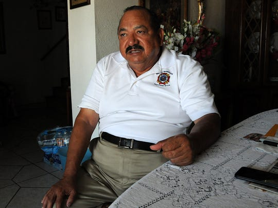 "Ramon Sierra, a resident of the Anapra neighborhood in Sunland Park, is among those pushing for better communication and improvements to the region's water system. ""It is quite hard to say I trust them. I still buy my bottled water,"" he said."
