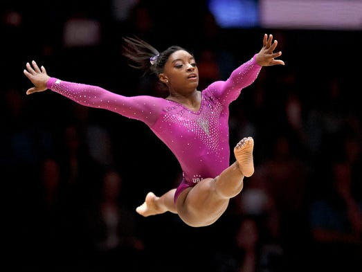 Armour U S Gymnast Simone Biles Does Things No Other