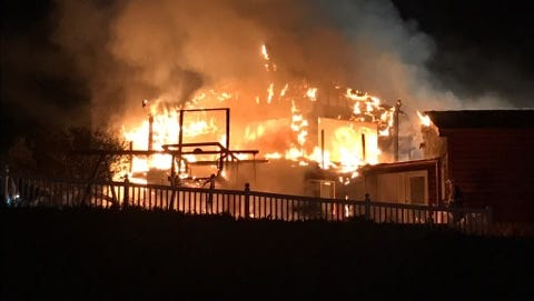 A fire was reported Thursday night near Dillsburg.
