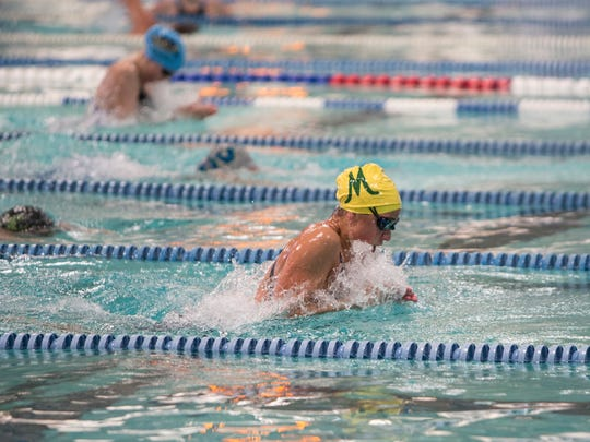 Manogue's Donna Depolo won the girls 4A 100 yard breaststroke race during the State Swimming Meet in Carson City on Saturday.