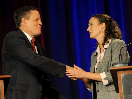 Rep. Steve Daines and Montana State Rep. Amanda Curtis