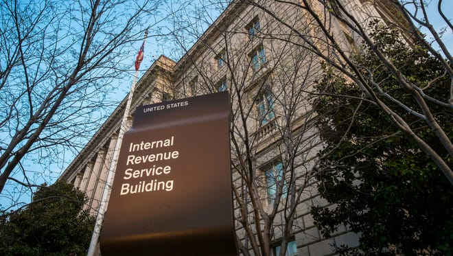 Internal Revenue Service headquarters building in Washington.