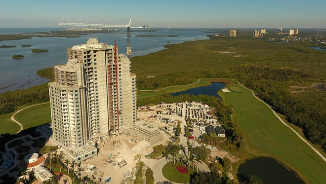 The Ronto Group announced construction of its 26-floor, 120-unit Seaglass high-rise tower at Bonita Bay remains on schedule for completion this summer.
