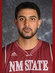 New Mexico State sophomore Tanveer Bhullar.