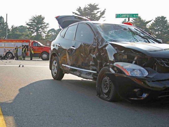Scene of fatal motorcycle wreck on July 22, 2017 in