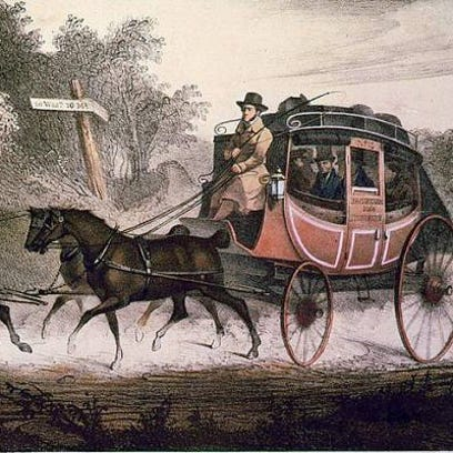 This 1830 lithograph shows a rather glamorized version