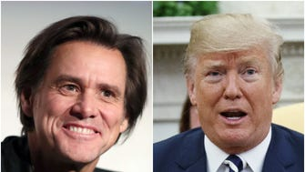 Jim Carrey has unveiled his latest painting from his Trumpist Period: POTUS himself.