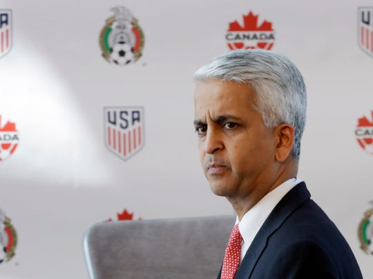 Sunil Gulati, president of the United States Soccer Federation