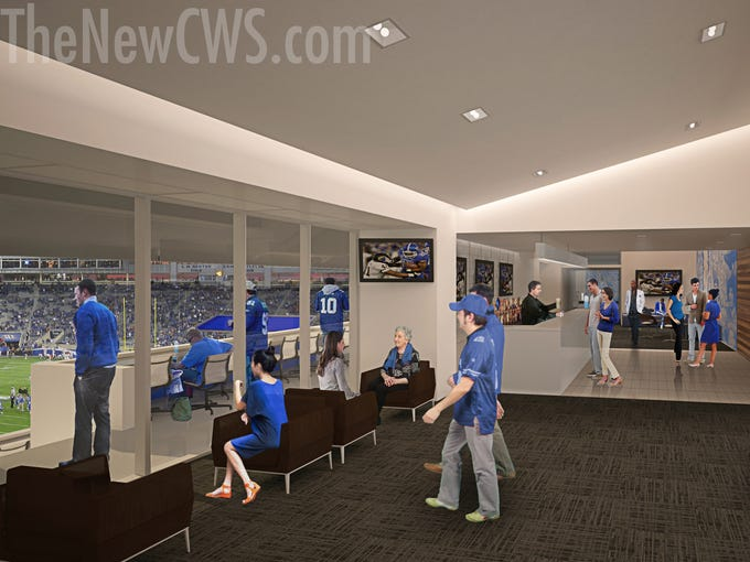 A look at the club space at lodge level of the renovation planned at Commonwealth Stadium.