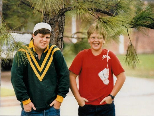 Bart Millard, right, in sixth grade, with his brother, Stephen, then in junior year of high school