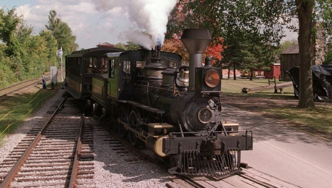 This is a steam locomotive, the Edison, that runs regularly at Greenfield Village.